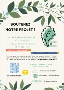 flyer soutien projet de l'association